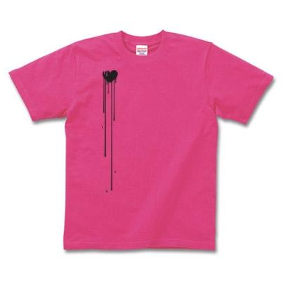 したたりおちるハート デザインTシャツ