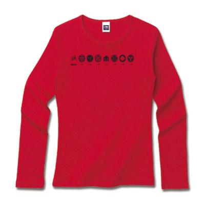 新撰組家紋デザインTシャツ「誠・家紋」黒