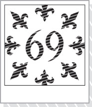 69(ロック)と百合紋章 Tシャツ販売