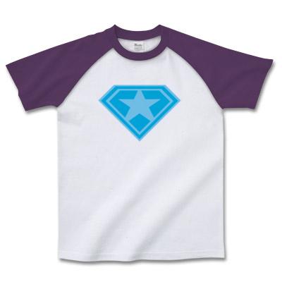 ロゴデザインT「スーパー☆」ブルー