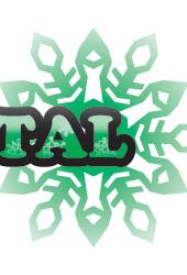 冬文字デザイン「WHITE CRYSTAL」緑