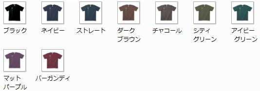 黒系統のTシャツカラー