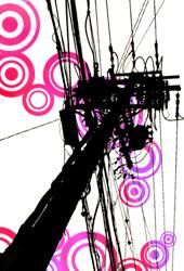 ピンク 電柱