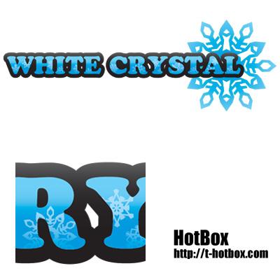 雪の結晶デザイン タイポグラフィ