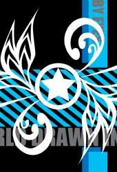 ☆ロゴデザイン ブルーホワイト