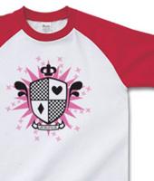 ポップロゴ「エンブレム・ハートダイヤ」ピンク
