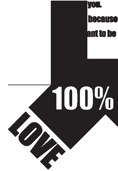 黒矢印。愛の告白英文。100パーセントラヴ