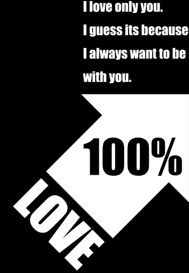 愛の矢印。LOVEタイポグラフィデザイン
