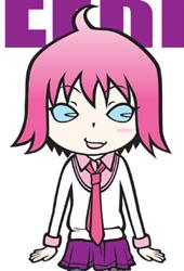 女の子キャラクター「CHEERFUL DAYS」カラフルパープル