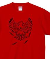 アニマルTシャツ「Eagle」ブラック