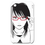 iPhone3GS用カバー 眼鏡女の子イラスト