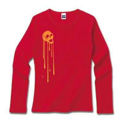 赤ロンティ 髑髏デザインファッション