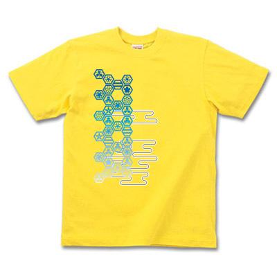 和風家紋Tシャツ イエロー