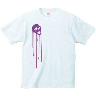 デザインTシャツ とろけるドクロ
