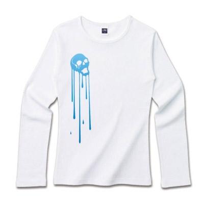 長袖skullシャツ ユニークイラスト
