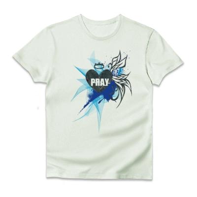 PRAY blue Tシャツ