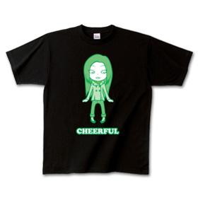キャラTシャツ「チアフル」グリーン 女の子イラスト