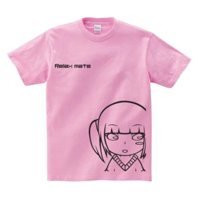 Relaxmate 特大プリントTシャツ ピンク