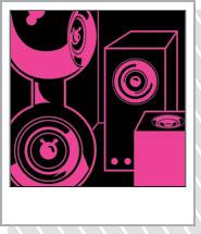 Speaker room pink ミュージックTシャツ