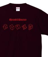 格ゲーコマンドTシャツ「Special Moves」レッド