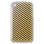 iPhone3GSカバー 通販グッズ黄色紫ストライプ