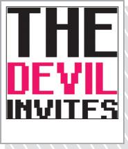 文字デザイン 通販アイテム「THE DEVIL NIGHT」黒紫