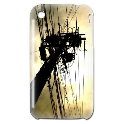 アイフォーン3G用カバー 電柱写真