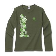 冬デザインシャツ「冬の落し物」グリーン