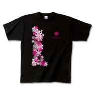 雪の結晶デザインTシャツ「冬の落し物」ピンク