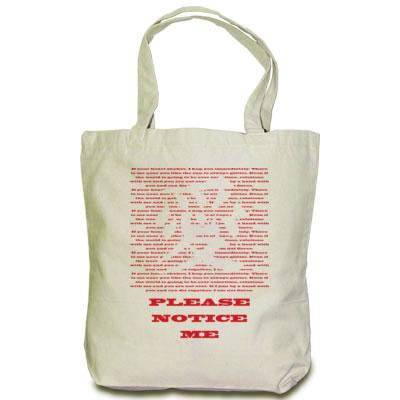 愛の文字デザイン トートバッグ