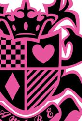 キュートTシャツ「エンブレム・アモーレ」ブラックピンク
