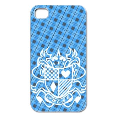 王冠とトランプ模様 iPhone4カバー