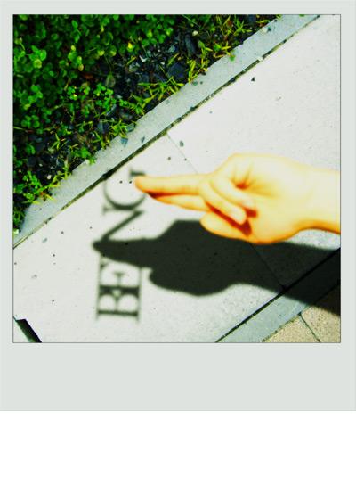光と影をテーマいしたポラロイドフォトグラフィック being6