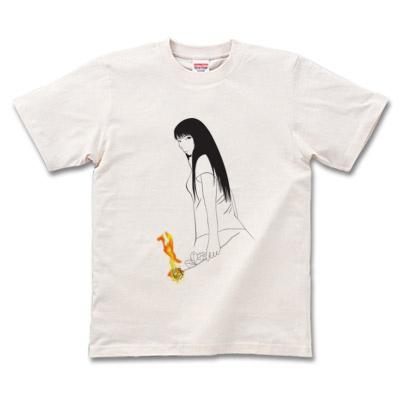 薔薇と女の子 「rose」Tシャツ通販