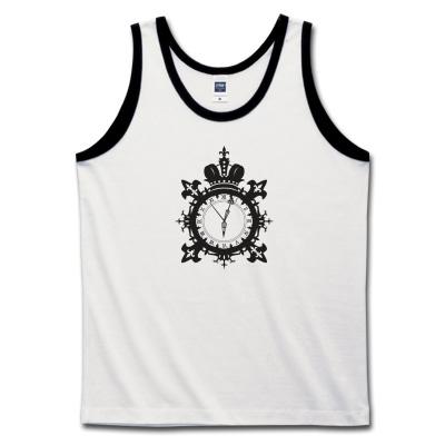 トリムタンクトップ 王冠と時計