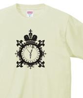 王冠と時計のデザイン「クラウンウォッチ」ブラック