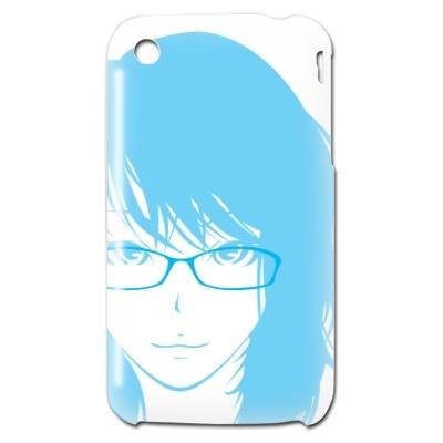 iPhone3GSシェルカバー 眼鏡女の子