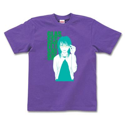 Tシャツデザイン めがね女の子イラスト