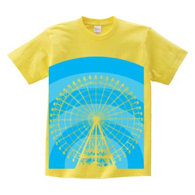 イエローTシャツ 遊園地デザイン