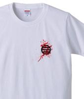 家紋と血しぶき「近藤勇」両面・黒赤