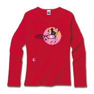 メガネデザインTシャツ「lucky」pink