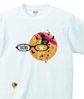 ポップデザインTシャツ「lucky」orange