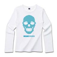 髑髏Tシャツ「水色DOKURO青MEGANE」