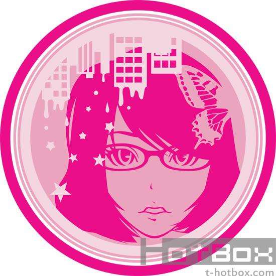 女の子イラスト 眼鏡女子