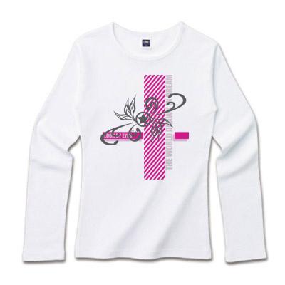 ☆マークのロゴデザイン ロングTシャツ