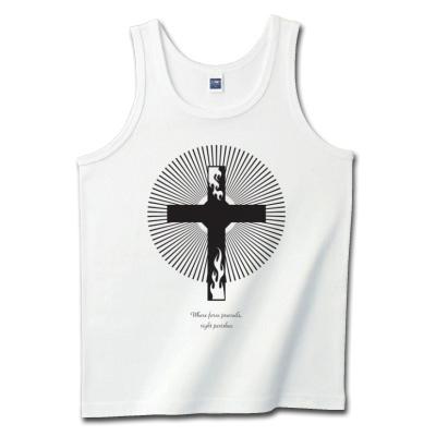 炎と十字架のデザインTシャツ販売
