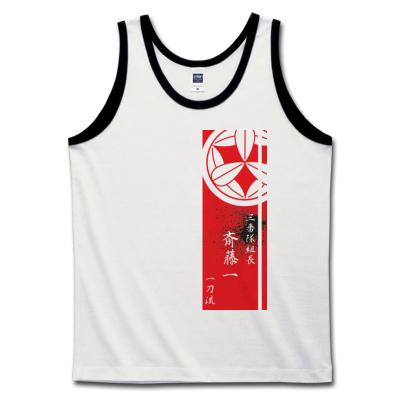 サムライTシャツ「斎藤一」赤黒