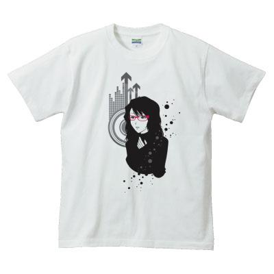 Tシャツ めがねじょしイラスト