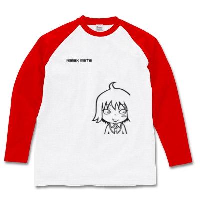 リラックスメイト オリジナルプリント長袖ラグランTシャツ