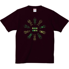 キャラクタープリントシャツ「RELAXMATE サークル」グリーン